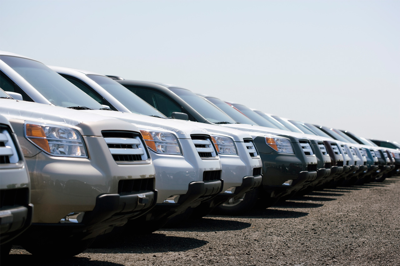 Vehicles sold on a dealer lot