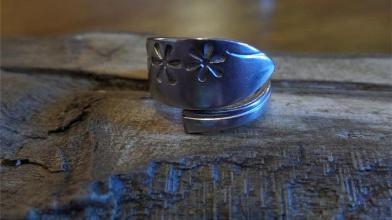 Vintage Teaspoon Ring Number 10