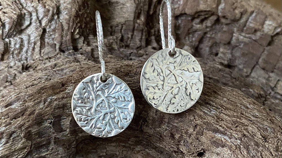 Solid Silver Earrings Cut From Six Pence Coins