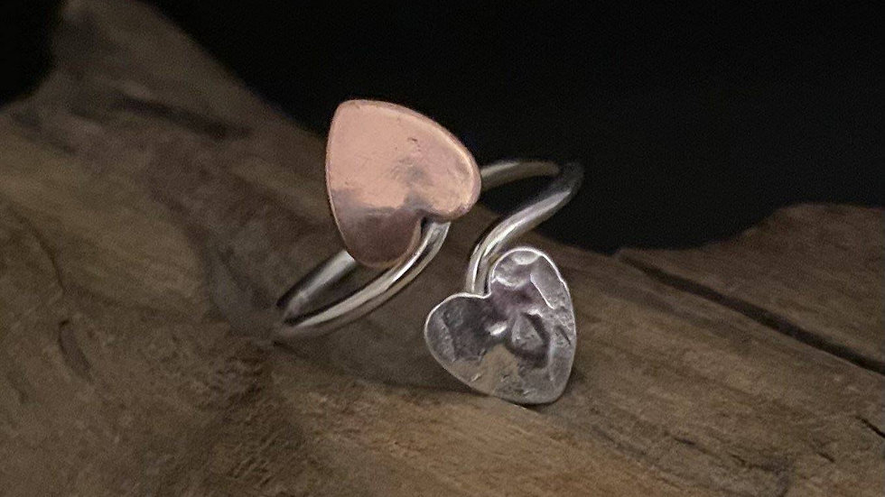 Silver & Copper Adjustable ring