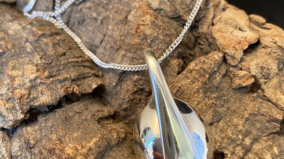 Solid Silver Salt Spoon Necklace, Birmingham 1904