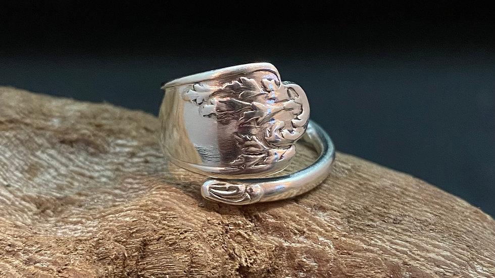 1897 Birmingham Solid Silver Teaspoon Handle Ring