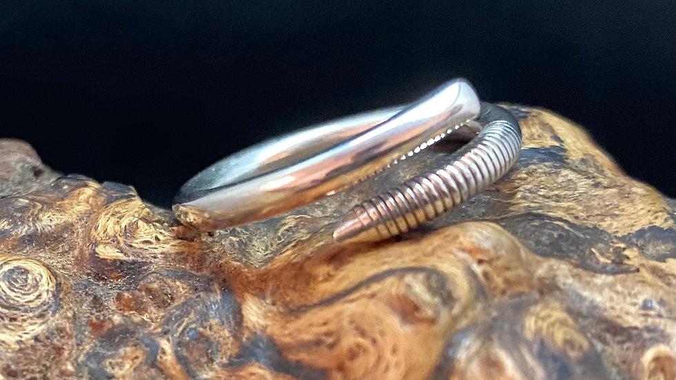 1916 Sheffield Solid Silver Teaspoon Handle Ring
