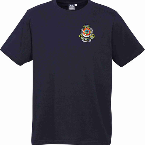 Combed Cotton Short Sleeved T-Shirt (Navy)