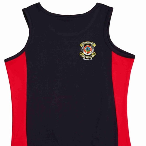 Cooldry Contrast Mesh Singlet (Navy/Red)