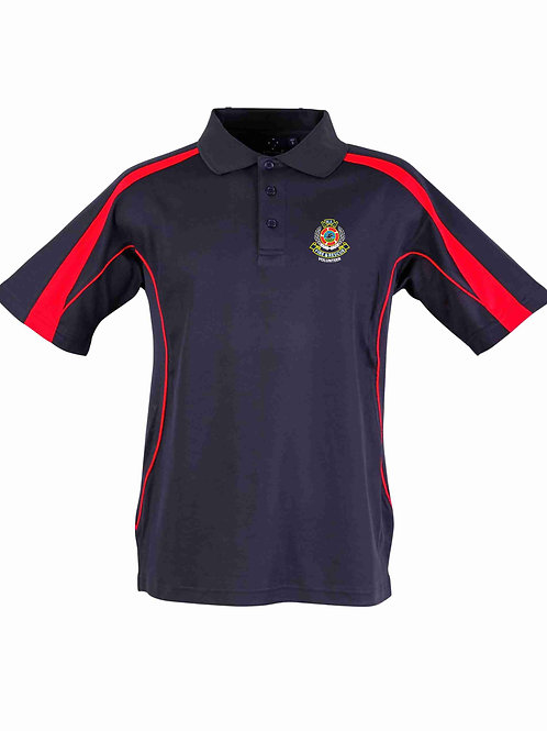 True Dry Short Sleeved Polo (Navy/Red)