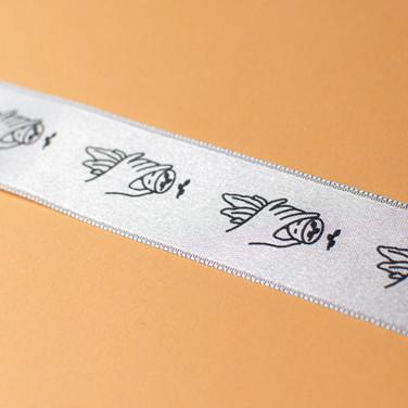 DRUKART Sietspiede 2,5cm plata lente nepārtraukts drukājums, 10m