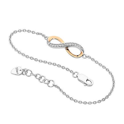 Ellani Infinity Bracelet with 18ct Rose Gold Plating
