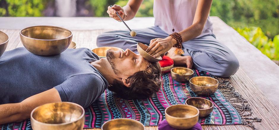 Nepal Buddha copper singing bowl at spa