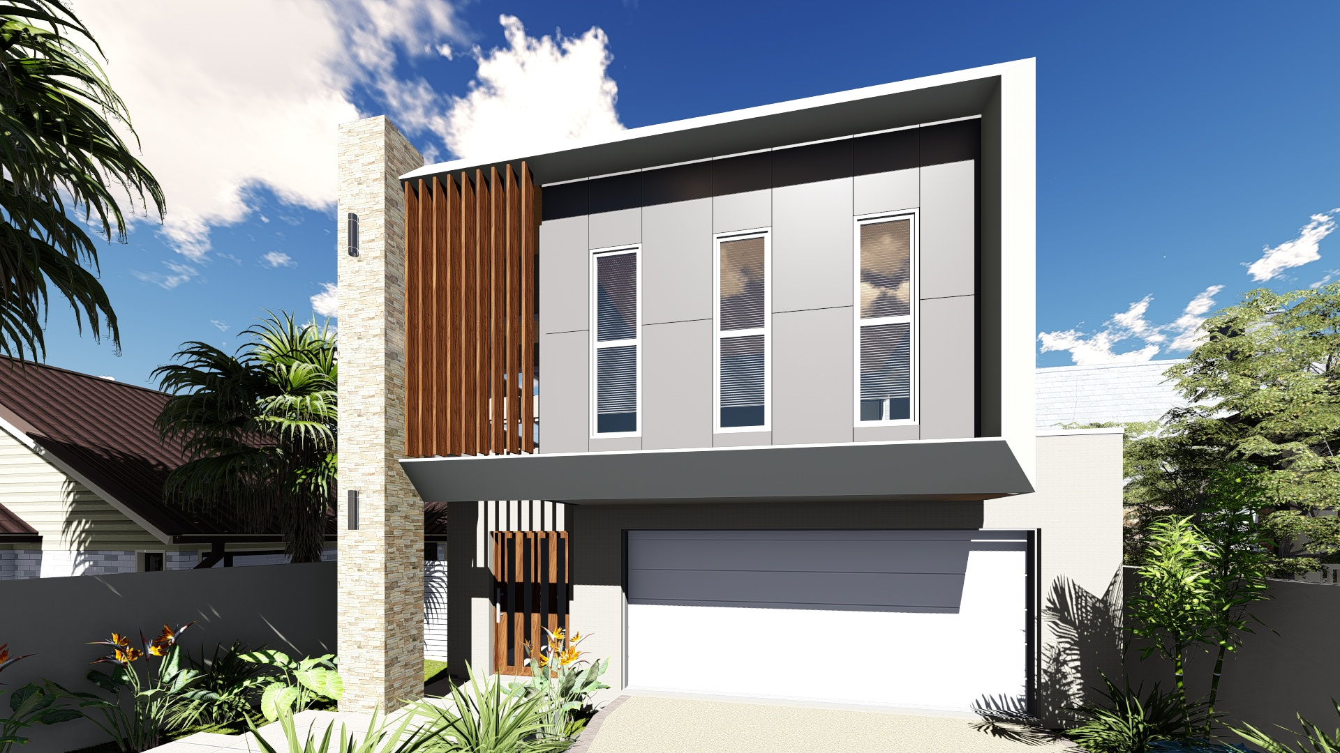 Modern small lot design 10m