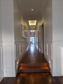 Wide main corridor with breezeway