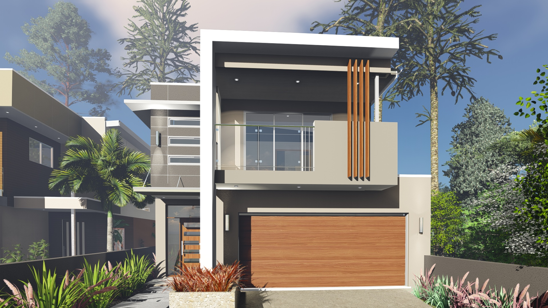 Blueprint designs small lot house design to suit a 10 0 for House plans for wide but shallow lots