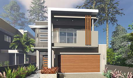 Small lot homes narrow block designs brisbane for 10m wide home designs