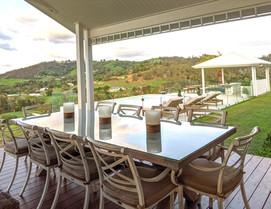 Alfresco deck facing pool