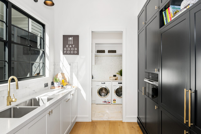 Butlers pantry with Laundry access