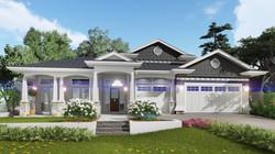 New Hampton Style Home Facade