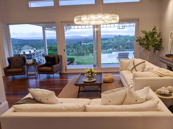 Lounge area with views