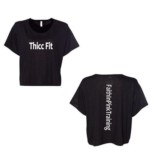 Women's Flowy Crop T‑shirt