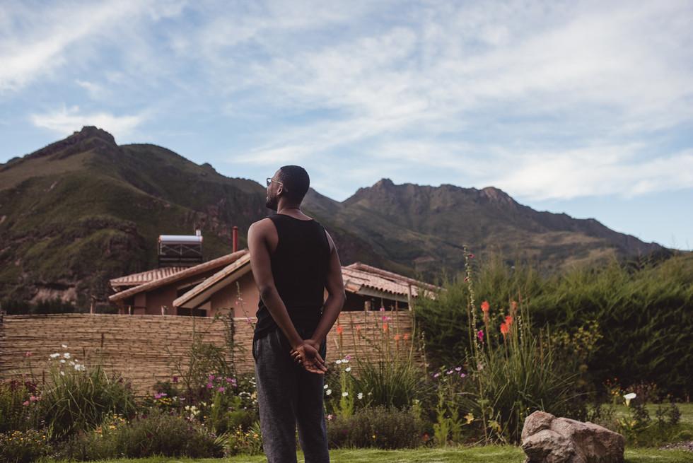 Enjoying the views at Nidra Wasi