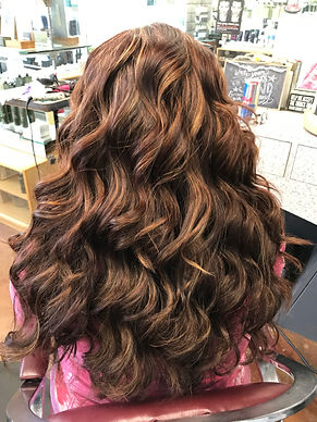 Natural Concepts Salon Glendora Red Hair Color with Medium to Long Haircut. Aveda Color, Aveda Hair Products, and Aveda Hair Salon and Spa