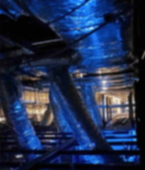 duct, industrial, light, blue