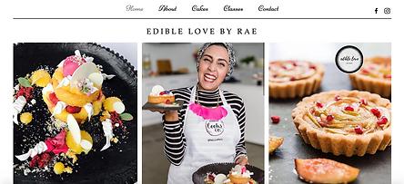 Rae Edible Love Website Homepage