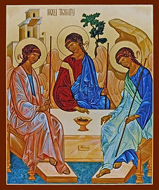 Russian Iconic Representation of Holy Trinity by Rublev