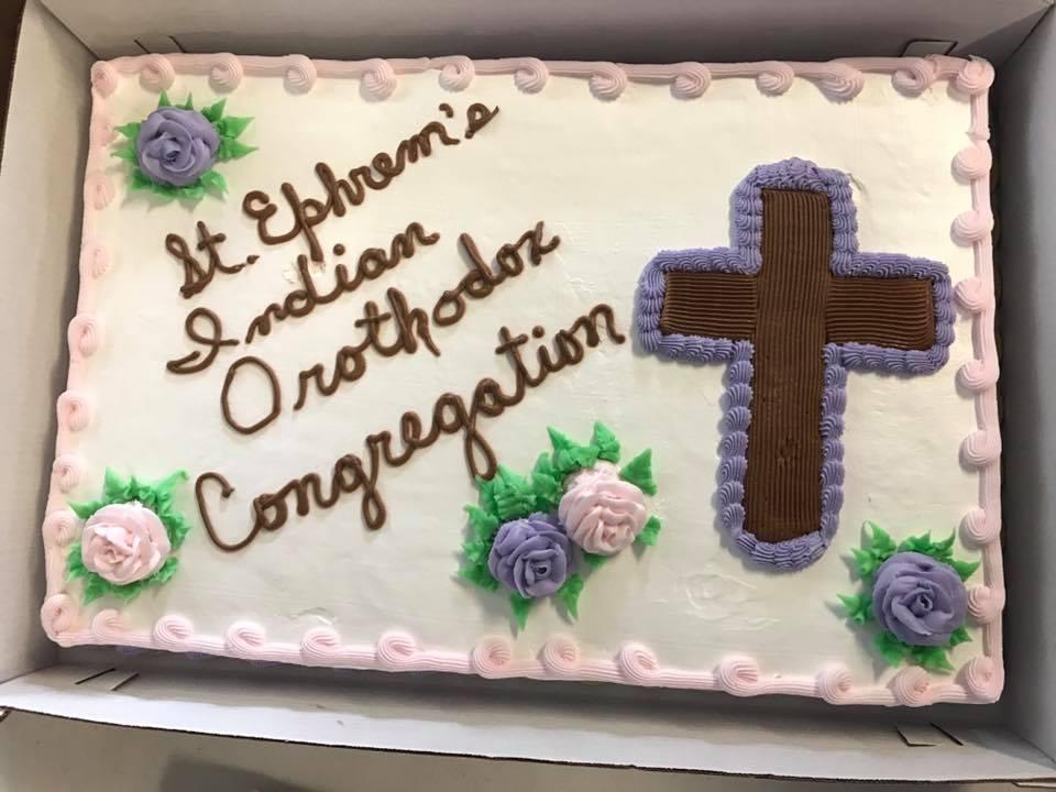 St. Ephrem's Birthday Cake