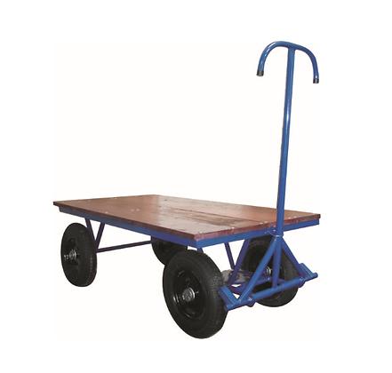 Carrinho de carga plataforma madeira 800kg c/roda pneumática - JB25
