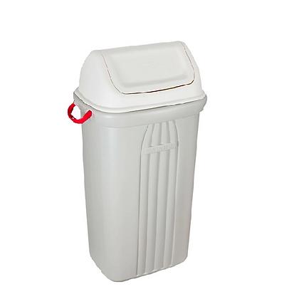 Cesto de lixo com tampa basculante - 60 litros