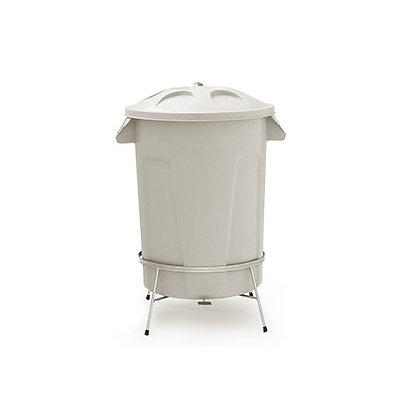 Cesto de lixo com tampa e pedal - 60 litros