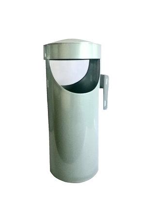 Lixeira metal para calçada - 20 litros