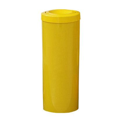 Cesto de lixo com tampa flip top - 23 litros