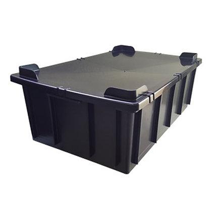 Caixa plástica fechada - 36 litros