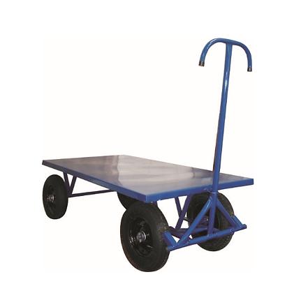 Carrinho de carga plataforma aço 800kg c/roda pneumática - JB26