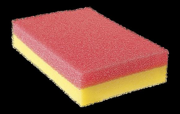 Esponja dupla face amarela/rosa - 9407