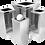 Thumbnail: Lixeira inox quadrada com tampa flip top - 50 litros