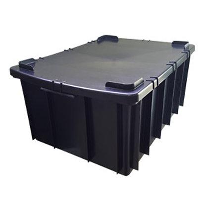 Caixa plástica fechada - 26 litros