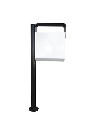 Lixeira metal basculável 180° para calçada - 35 litros