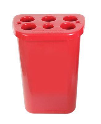 Lixeira quadrada para copos descartáveis - 5 água 1 café 2 mexedores LE22