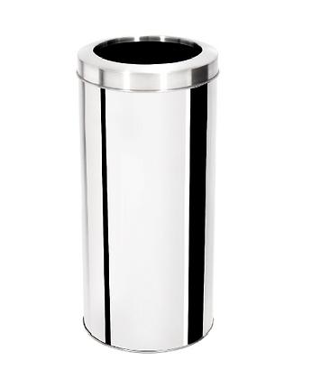 Lixeira inox com aro - 30 litros