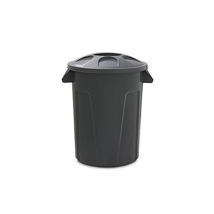 Cesto de lixo com tampa - 60 litros