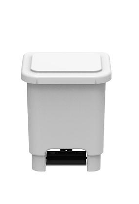 Lixeira retangular com pedal - 15 litros