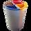 Thumbnail: Lixeira rotomoldada mix c/4 divisões - 50 litros