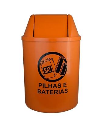 Coletor para pilhas e baterias - 15 litros