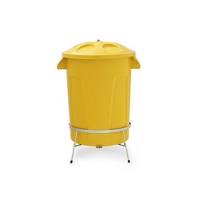 Cesto de lixo com tampa e pedal - 100 litros