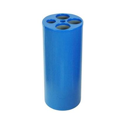 Lixeira cilíndrica azul para copos descartáveis - 3 água 1 café 1 mexedor LE16a