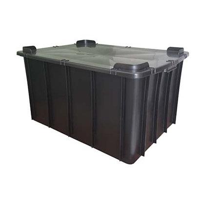 Caixa plástica fechada - 130 litros
