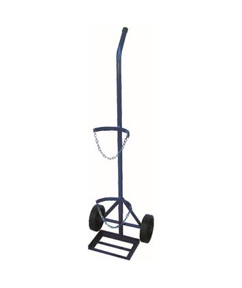 Carrinho de carga c/roda maciça - transp. cilíndro oxigênio - JB41