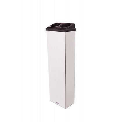 Lixeira inox retangular para copos descartáveis - 2 água 1 mexedor